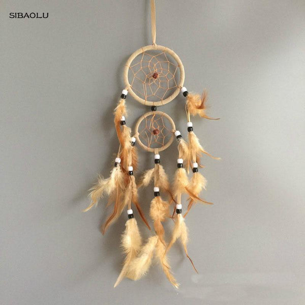 Wall Hanging Wind Chimes with Feathers