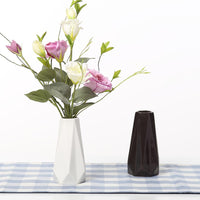 White Black Ceramic Tabletop Vase