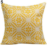 Vintage Geometric Floral Throw Pillow Covers