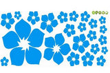 1pc Removable Beautiful Flowers Wall Sticker