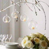 Hanging Glass Candle Tealight Holder  12PCS