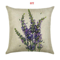 Lavender Floral Throw Pillow/Cushion Covers