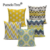 Chevron Yellow Throw Pillow Covers