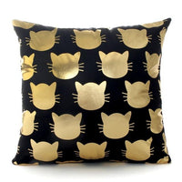 Black Golden Cushion Covers