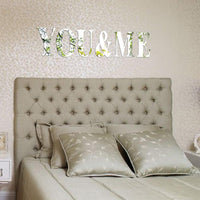 Letters Silver Mirror Wall Decal Stickers
