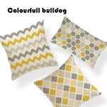 Striped Chevron Yellow Gray/Grey Cushion Covers