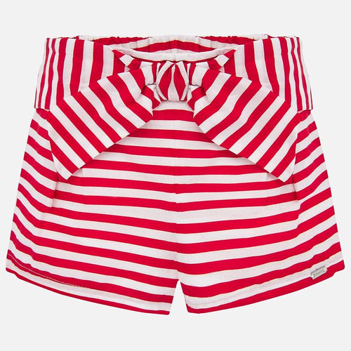 Red Stripe Bow Shorts