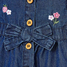 Load image into Gallery viewer, Denim Flower Dress