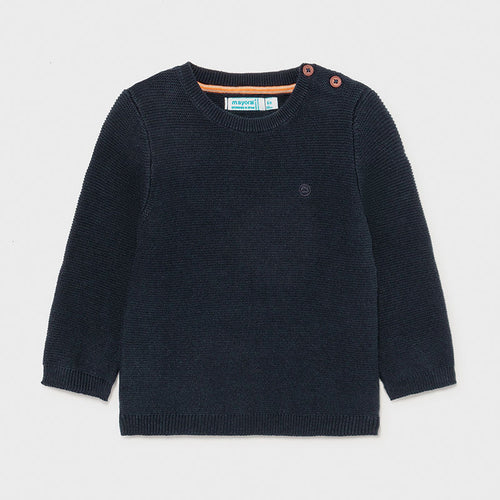 Basic Crew Neck Sweater Navy