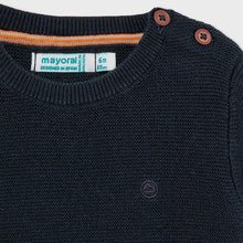 Load image into Gallery viewer, Basic Crew Neck Sweater Navy