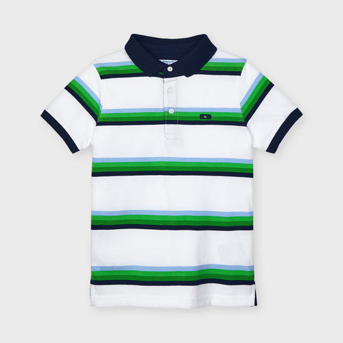 Striped Polo Matcha