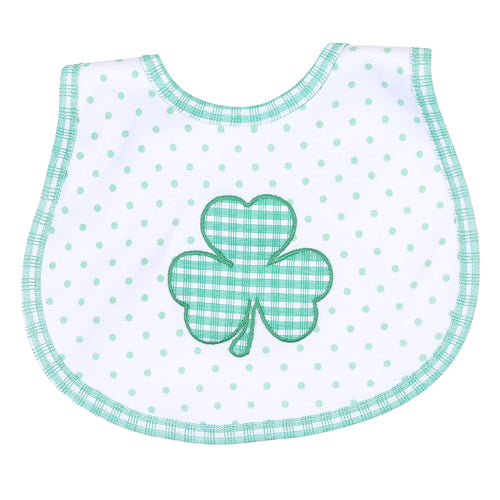 Cutest Little Clover Applique Bib