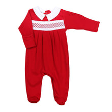 Load image into Gallery viewer, Julie & Jamie's Classic Smocked Footie