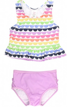 Load image into Gallery viewer, Rainbow Peplum Tankini