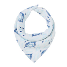 Load image into Gallery viewer, Blue Ikat Bandana Bib