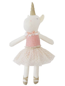 Plush Ballerina Unicorn Doll