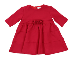 Holiday Tiered Dress - Rose Detail