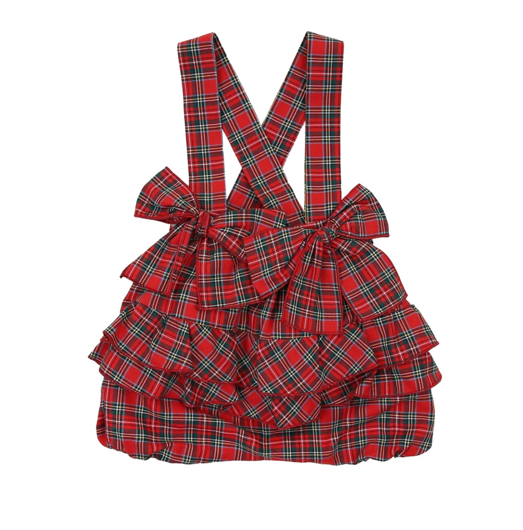 Holiday Plaid Ruffle Shorts