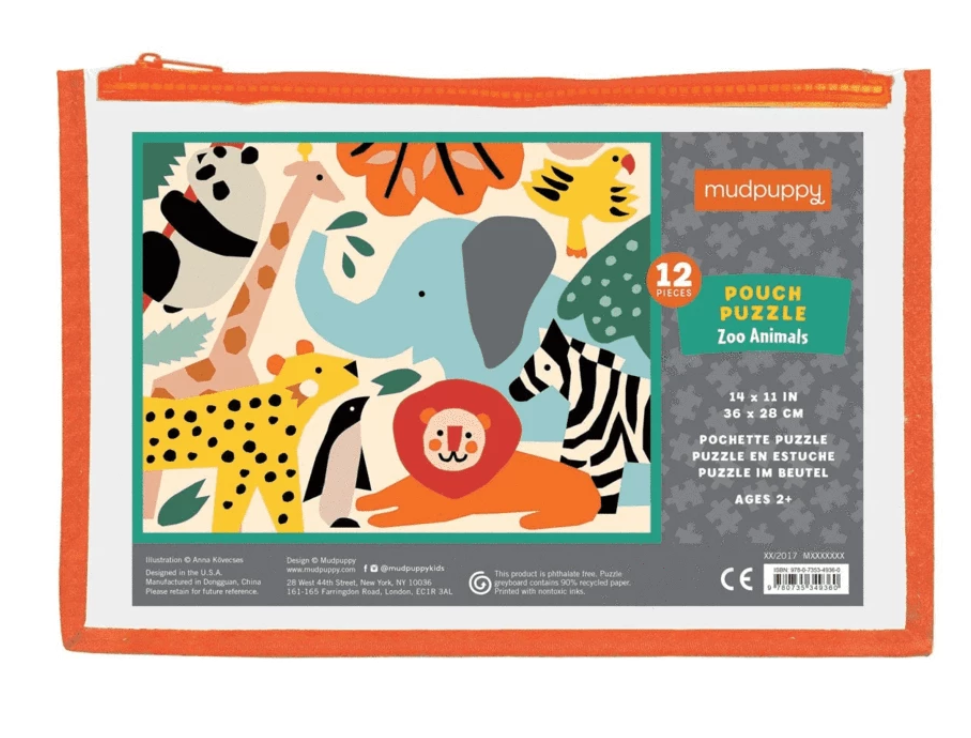 Zoo Animals Puzzle Pouch