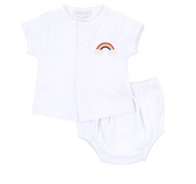 Load image into Gallery viewer, Rainbow Baby Embroidered Diaper Set