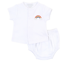 Rainbow Baby Embroidered Diaper Set