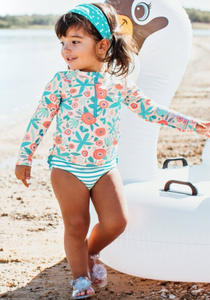 Seaside Long Sleeve Rash Guard Bikini Swim