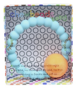 Mercer Teether Rattle  - Stormy Grey