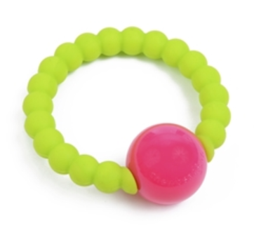 Mercer Teether Rattle  - Chartreuse