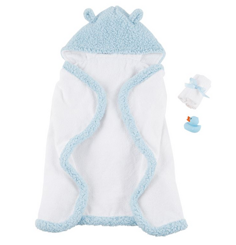 Blue Baby Bath Time Gift Set