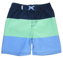 Load image into Gallery viewer, Mint & Blue Color Block Swim Trunk