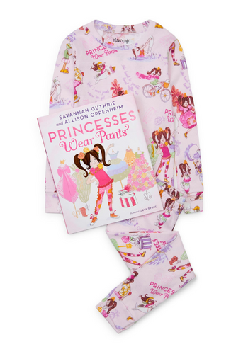 Princess Wears Pants Pajamas & Book Set