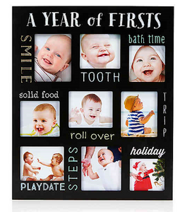Baby's Firsts Chalkboard Frame