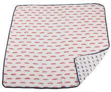 Load image into Gallery viewer, Firetruck & Dalmatian Muslin Blanket