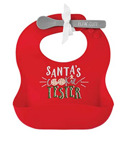 Red Christmas Silicone Bib