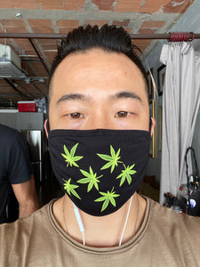 Mask - Poly Spandex Washable Marijuana Print