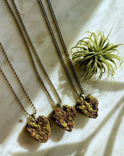 KannaBling - Necklace Heart Shape Platinum Chain (3 Variants)