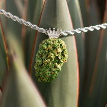 Load image into Gallery viewer, KannaBling - Crown Bail Platinum Rope Chain