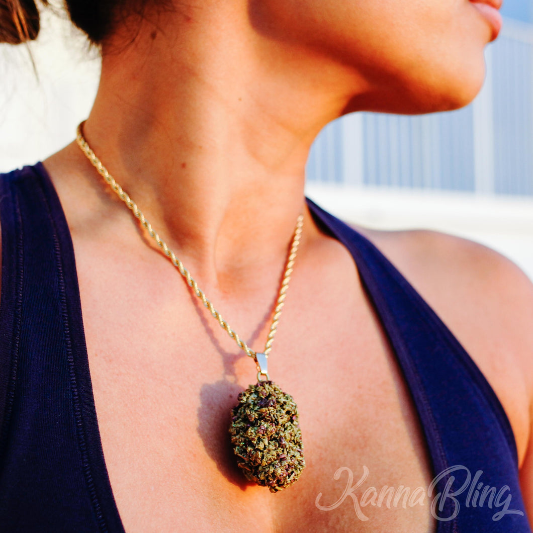 Marijuana Weed Cannabis Necklace Jewelry