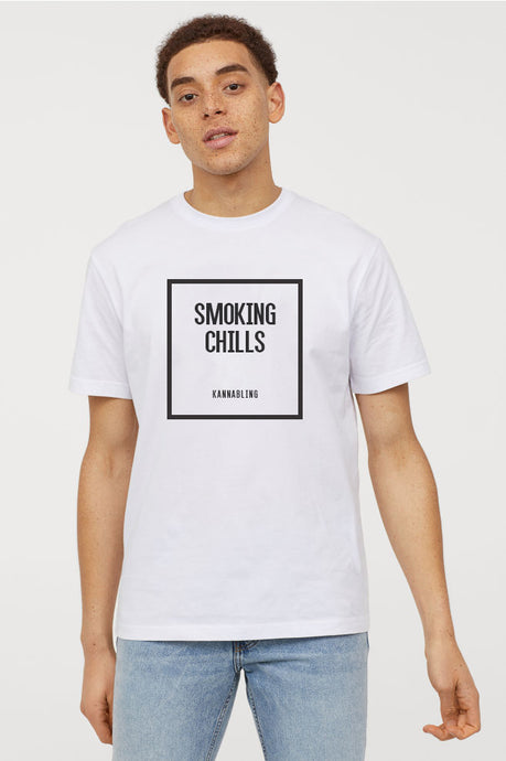 KannaBling - T-Shirt Smoking Chills for sale
