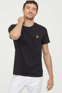 KannaBling - T-Shirt Weed Leaf Chest Plate