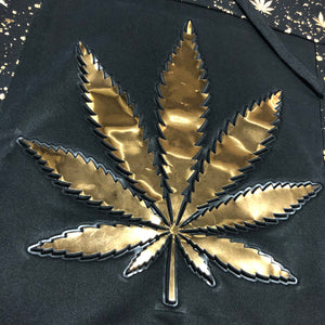 KannaBling - Hoodie Sweater Weed of Life Gold Foil