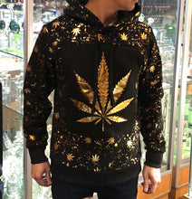Load image into Gallery viewer, KannaBling - Hoodie Sweater Weed of Life Gold Foil