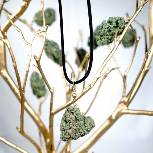 KannaBling - Pendant Necklace Heart Shape in Suede Rope(Ladies)