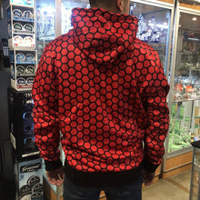 Load image into Gallery viewer, KannaBling - Backwoods Hoodie Red n Black Honeycomb Sweatshirt