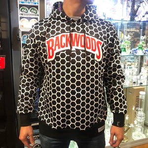 KannaBling - Backwoods Hoodie Black N' White Honeycomb Sweatshirt
