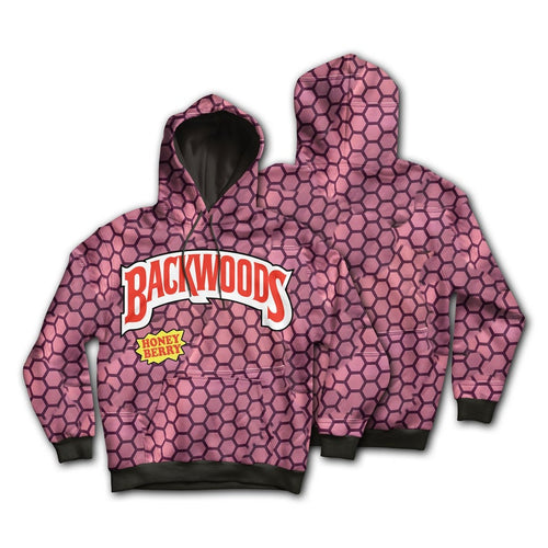 KannaBling - Backwoods Hoodie Honey Berry Sweatshirt