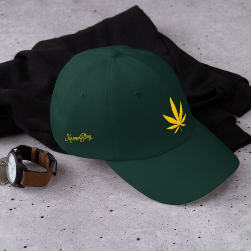 KannaBling - Ball Cap Cannabis Leaf of Gold