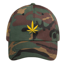 Load image into Gallery viewer, KannaBling - Ball Cap Cannabis Leaf Gold of Life
