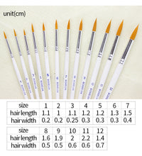 Load image into Gallery viewer, BGLN 12 Pcs Round Tip Paint Brush Set