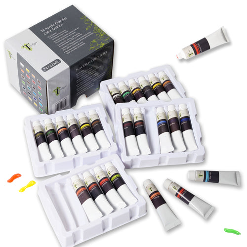 Tavolozza 24 Colors 22ml Tubes Acrylic Paint Set